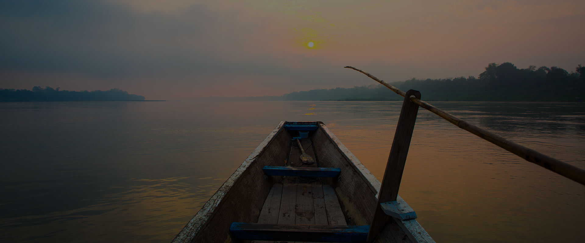 Sunrise on boat - India