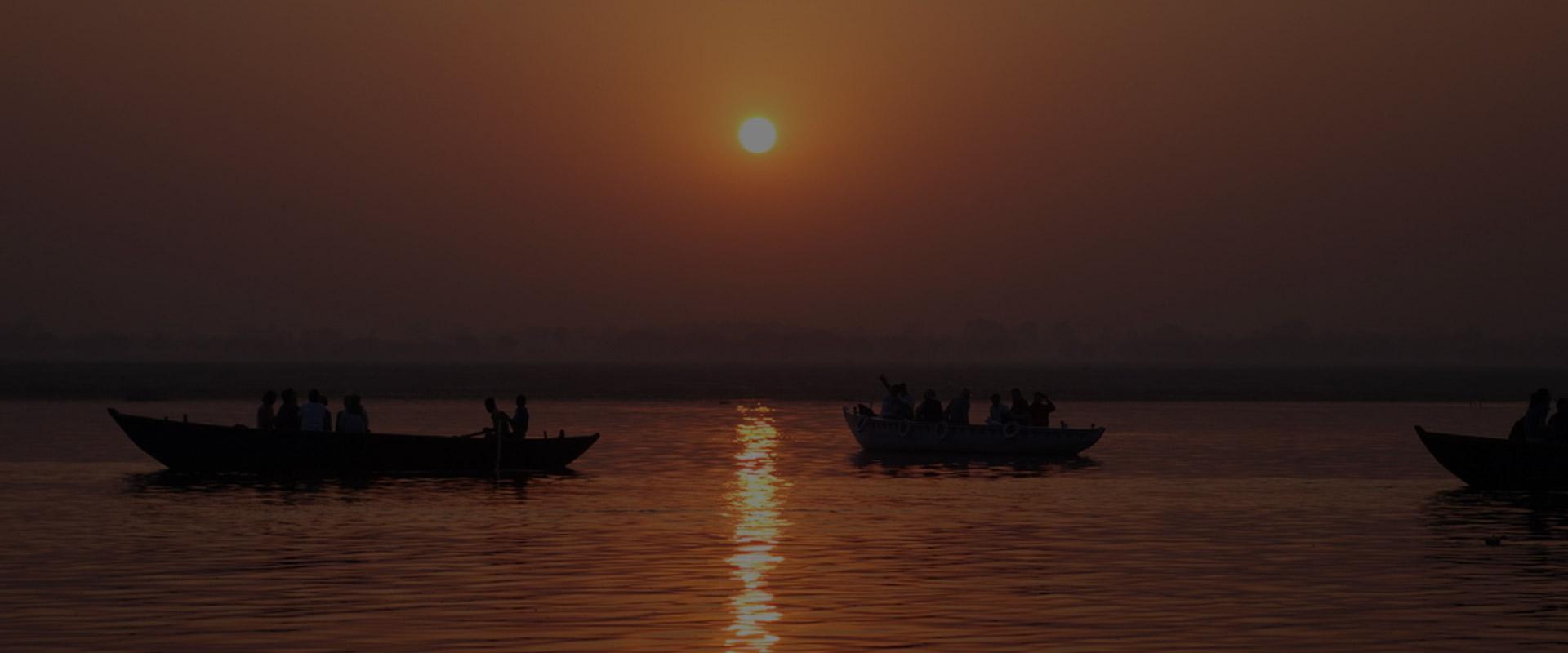Sunset boat in Varanasi